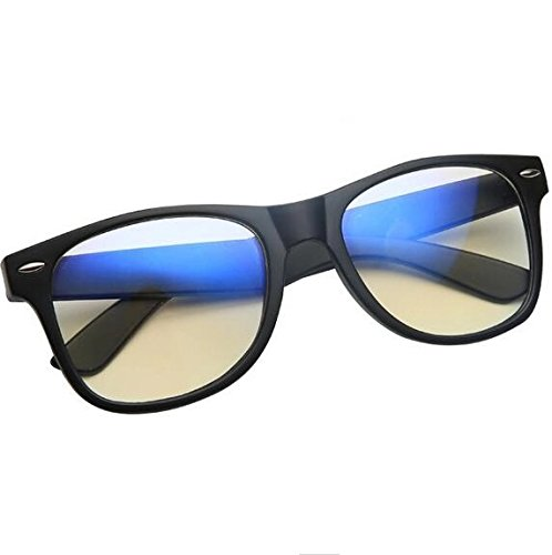 Blue light Blocking Glasses - FDA Registered - UV Protection - Transparent Amber Tinted Lens - Eye Strain Relief - - What The Sunglasses Is Best Of Brand