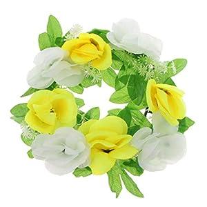 BROSCO Artificial Handmade Flower Memorial Flower Wreath Cemetery Funeral Decor | Color - E 99