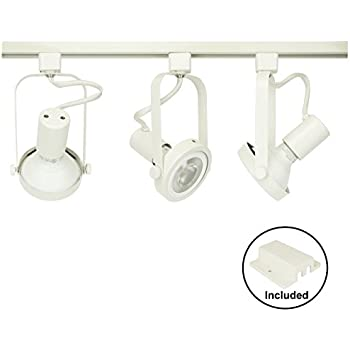 Du0026D Brand H System 3-Lights PAR30 LED Track Lighting Kit Gimbal Ring Rear Loading  sc 1 st  Amazon.com : white track lights - azcodes.com