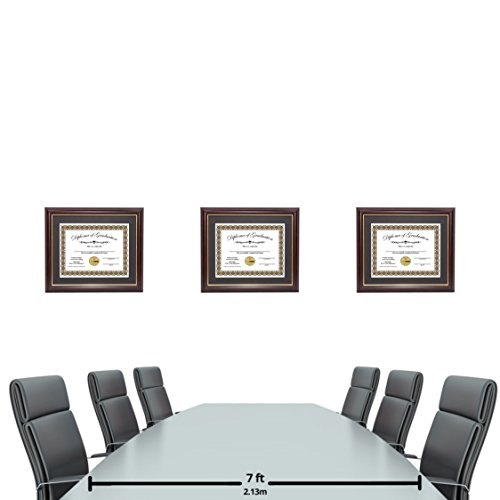 Creative Picture Frames CreativePF [11x14mh.gd] Mahogany Frame with Gold Rim, Black Matting Holds 8.5 by 11-inch Diploma with Easel and installed Hangers (12-Pack) by Creative Picture Frames (Image #3)