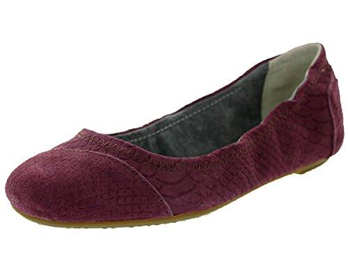 TOMS Women's Ballet Flat Wine Suede Snake Loafers & Slip-Ons Shoe 5.5 Women US