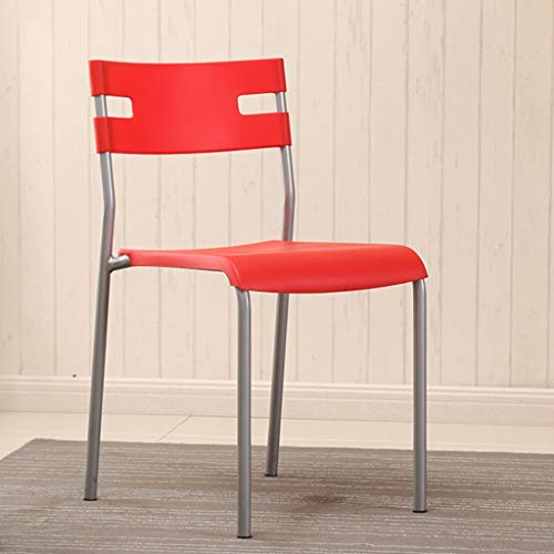 (Kays Barstools Dining Chair Plastic steelModern Furniture for Living Room, Desk, Patio, Terrace, Office, Kitchen, Lounging, Cafeterias & More (Color : F))
