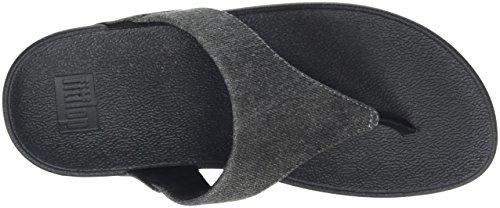 532 Fitflop thong Shimmer Bout denim black Femme Ouvert Noir Lulu shimmer denim Sandals Toe rOfxHO