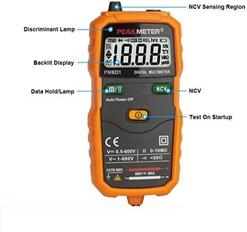 Nuokix Digital Multimeter Intelligent Anti-Burn Digital Display Universal Table Testing Measuring Tools