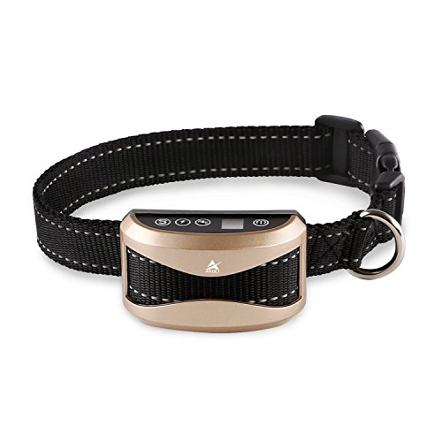 No Bark Collar Rechargeable Dog Barking Control Training Collar Beep / Vibration / Safe Shock or No / Sensitivity Anti Bark Reflective Collar for Small Medium Large Dogs by A AKOLI
