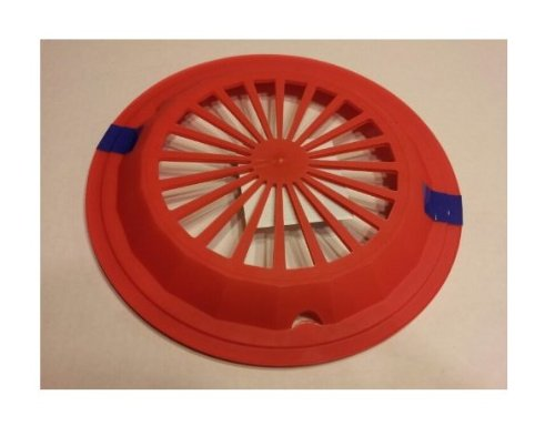 "Classic Red 10-3/8"" Plastic Paper Plate Holders, Set of 4"