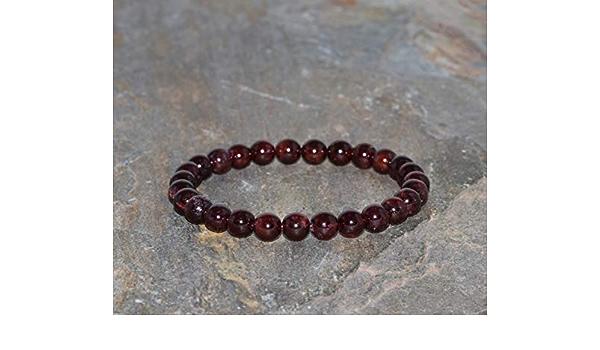 Garnet bracelet 6 mm Garnet bead Round bead bracelet Woman bracelet Simple bracelet