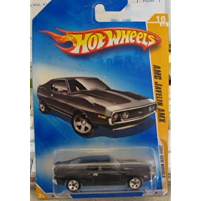 Hot Wheels 2009-016 AMC Javelin AMX New Models BLACK 1:64 Scale: Toys & Games