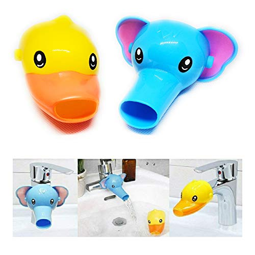 affordable RafaLife Bath Toys - Faucet Extender, Animal Spout Sink Handle Extender for Toddlers Kids, Baby Safe and Fun Hand-Washing Solution, Promotes Hand Washing in Children (2 Pack - Elephant, Duck)