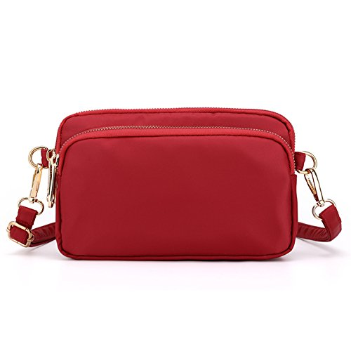 for Women Crossbody 2 Cell Small Purse Bags Phone SCIEN Red qwZSPn74Cx