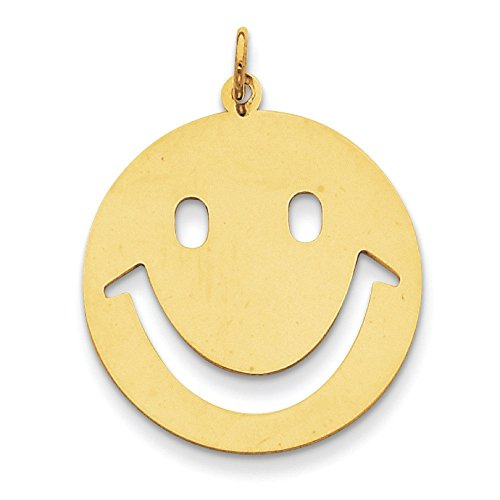 Or 14 carats Charms enfants Smiley