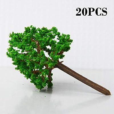 Material del modelo de construcción Mesa de arena Modelo Árboles Diy Jardín hecho a mano Paisaje Plástico Árboles de la calle Ejecución exquisita () ESjasnyfall: Amazon.es: Jardín