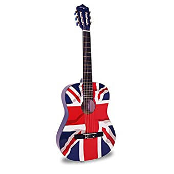 Martin Smith W-34-GB-PK 34-Inch 1//2 Size Classical Guitar with Union Jack