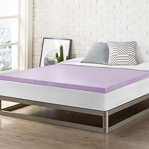 Best Price Mattress 2 Inch Memory Foam Bed Topper with with Lavender Cooling Mattress Pad, Twin Size, ()