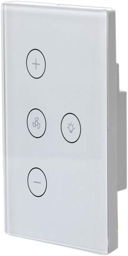 ULTECHNOVO Interruptor Táctil de Pared Luz Wifi Interruptor de Ventilador de Techo Inteligente Control Remoto de Aplicación Varios Interruptores de Control de Velocidad para El Hogar Vida Inteligente: Amazon.es: Iluminación