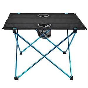 YuCheng Mesa Auxiliar portátil para Camping, Plegable, Ligera, con ...