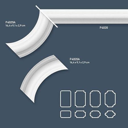 2 Meter Wandleiste Stuck Orac Decor P8020 LUXXUS Wandprofil Stuck Profil Friesleiste Dekor Leiste Zierleiste Wand