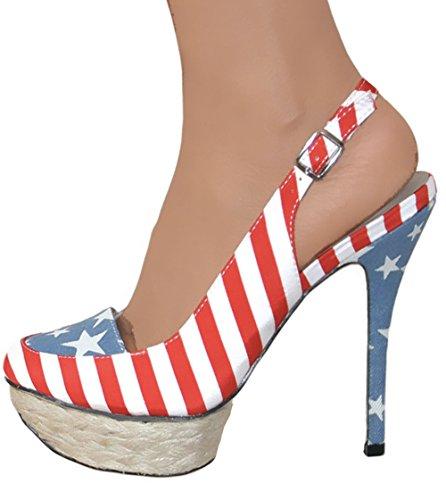 Dolcis OLS061 American Flag Stilettos