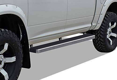 APS iBoard (304 Stainless Steel Polished Silver 5 inches) Running Boards | Nerf Bars | Side Steps | Step Rails Compatible with 2009-2018 Ram 1500 Crew Cab Pickup 4Dr & 2010-2019 Ram 2500/3500