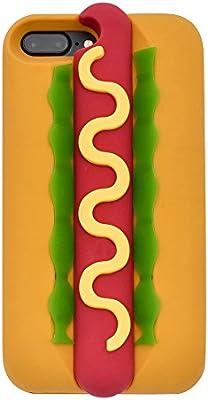 8113940bd0 Hot Dog iPhone 7 Plus Case & iPhone 8 Plus Case, Cute 3D Cartoon Hamburger