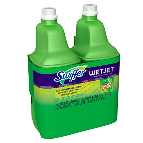 Swiffer Wet Jet Spray Mop Floor Cleaner Multi-Purpose Solution - Gain Original - 42.2 oz - 2 pk