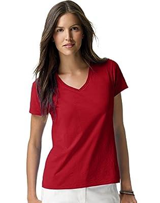Hanes womens Nano-T V-Neck T-Shirt (S04V)