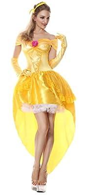 Lusiya Women's Enchanting Princess Belle Fairy Tale Costume