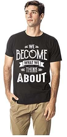 Motivation series-Thinking cotton tshirt, Black XXL