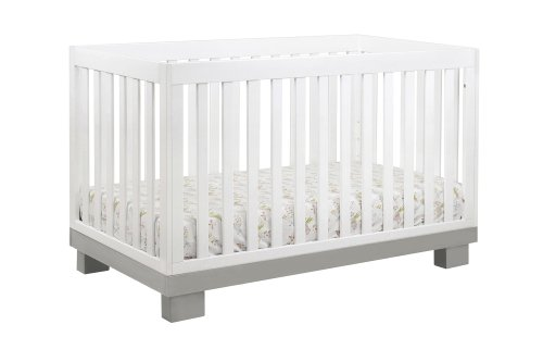 Babyletto Modo 3-in-1 Convertible Crib with Toddler Bed Conversion Kit, Grey / White ()