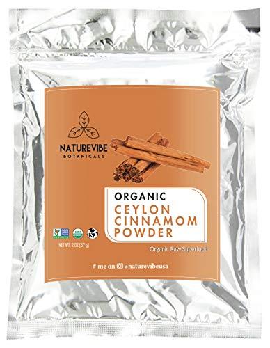 Premium Quality Organic Ceylon Cinnamon Powder (2lb) by Naturevibe Botanicals, Raw, Gluten-Free & Non-GMO (32 ounces)