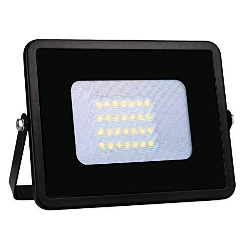 LE Outdoor LED Flood Light, IP65 Waterproof, 20W 1600LM, 200W Halogen Equivalent, Daylight White 5000K, 100 Degree Beam Angle, Security Floodlight for Home, Backyard, Patio, Garden, Tree and More