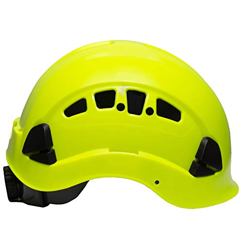 PPE By JORESTECH - ABS Work-At-Height and Rescue Hard Hat Slotted Ventilated Helmet w/Adjustable Ratchet 6-Point Suspension ANSI Z89.1-14 (Lime) by JORESTECH  (Image #2)