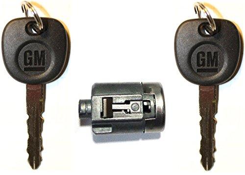 Select GMC OEM Single Chrome Door Lock Cylinder W//2 OEM LOGO KEYS 706591 5928818 706591 + 5928818