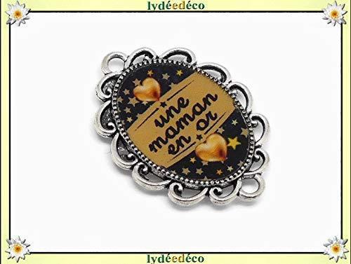1 imán mamá en corazón dorado estrellas negras oro regalos ...