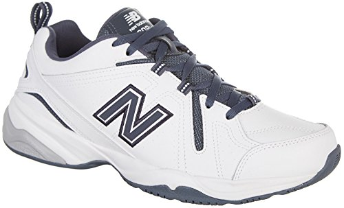 New Balance Men's 608V4 Comfort Pack Training Cross-Trainer Shoe, White/Outerspace, 10 D US