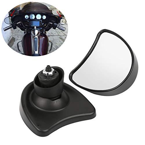 XFMT Black Inner Fairing Mount Mirrors Compatible with Harley FLHTC FLHX FLHTCUTG FLHT 1996-2013