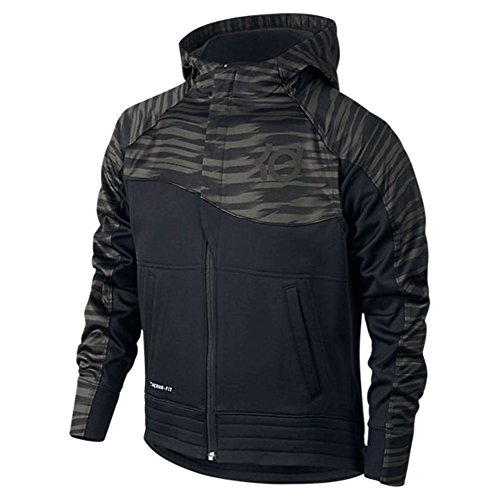 Nike Boys' KD Full Zip Basketball Hoodie Black Size Small 744273