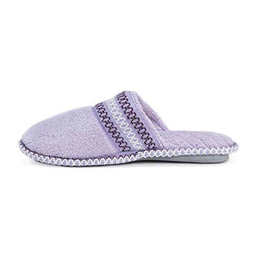 Chenille Slipper Purple Toe LUKS MUK Micro Closed Cathy Women's qBpRIRw7T