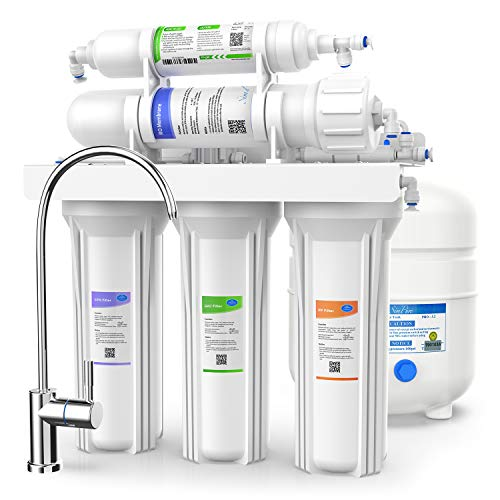 SimPure - 5 Stage Reverse Osmosis System and Ultimate Water Softener - Removes Upto 99% Impurities - NSF Certified - 75 GPD