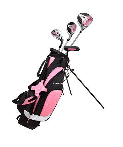Precise XD-J Junior Complete Golf Club Set for Children Kids - 3 Age Groups Boys & Girls - Right Hand & Left Hand! (Pink Ages 3-5, Right Hand) - Golf Girls Golf Bag