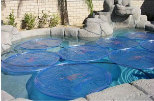 Plain Blue Swimming Pool Solar Sun Rings (Sun Pool)