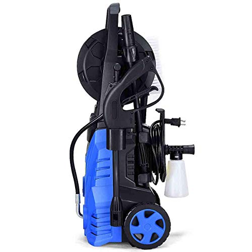 Goplus Electric High Pressure Washer 2030PSI 1.6GPM 1800W Power Pressure Washer Machine w/High Pressure Hose and Wash Brush (Blue) (Ar Blue Clean 1800w Electric Pressure Washer Review)