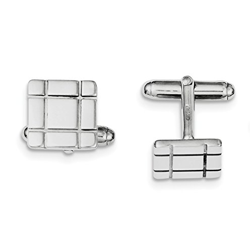 ICE CARATS 925 Sterling Silver Grooved Design Cuff Links Mens Cufflinks Man Link Fine Jewelry Dad Mens Gift Set