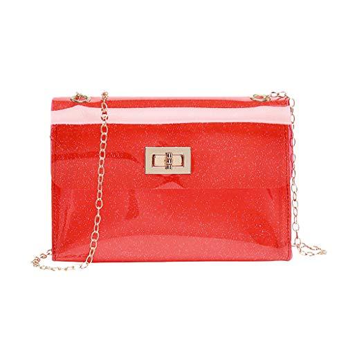 LiLi Meng Fashion Lady Shoulders Jelly Package Letter Solid Purse Mobile Phone Messenger Bag