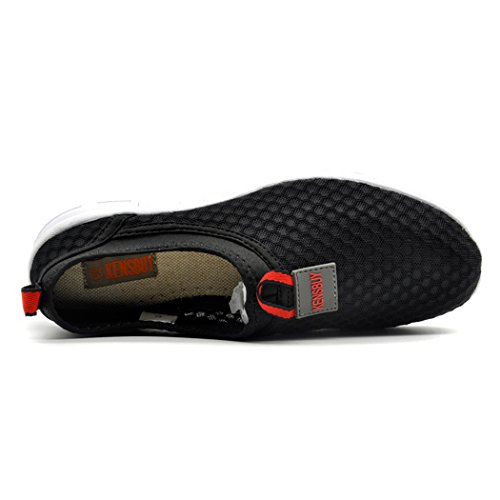 Kensbuy Mujeres Breathable Mesh Zapatos, Outdoor, Water, Beach Aqua, Climing, Antideslizante Black-red