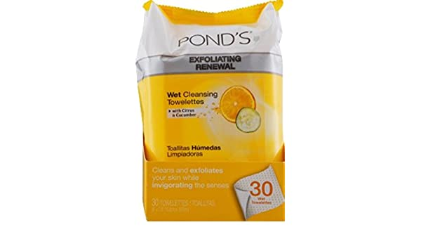 Amazon.com: Ponds Wet Cleansing Towelettes, Morning Fresh, 30 Each (Pack of 8): Beauty
