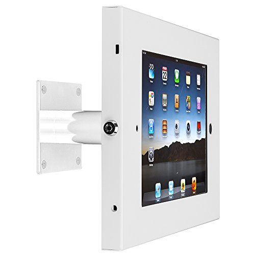 SecurityXtra SecureDOCK UNO Anti-Theft Wall Tilt Lock Mount for iPad Pro White by SecurityXtra