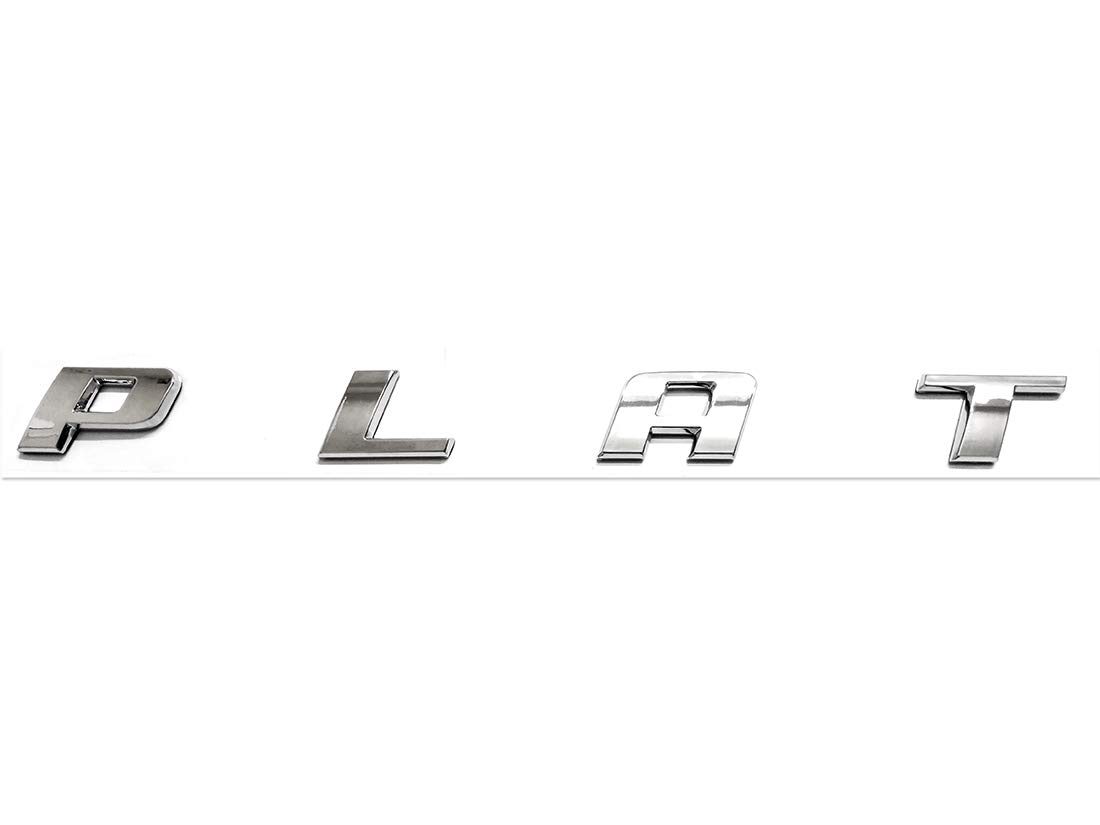 2pcs Chrome PLATINUM Emblems Side Badge Nameplate 3D Replacement for F150 F250 F350 Platinum OEM Size