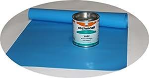 Technicoll - Set de reparación de piscina con adhesivo 290 gr. Set de reparación + Adhesivo piscina diferentes tamaños (70 x 140 cm).