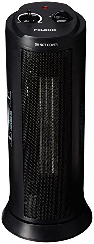 Pelonis NT15-13L Tower Ceramic Heater, 1500-watt, Black